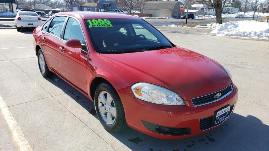 2010 Red Chevrolet Impala LT (2G1WB5EN4A1) with an 3.5L V6 OHV 12V engine, 4-Speed Automatic transmission, located at 923 Army Post Rd., Des Moines, IA, 50315, (515) 287-7732, 41.526928, -93.627419 - Photo #0